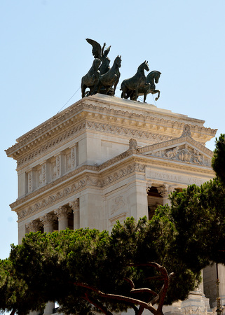 unified: National Monument to Vittorio Emanuele - the first King of a unified Italy - in Rome