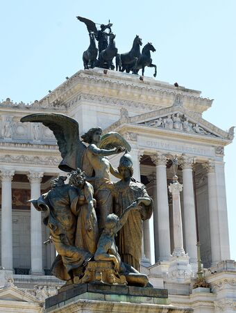 vittorio: Detail of Thought statue at the Monument to King Vittorio Emanuele II, Rome, Italy