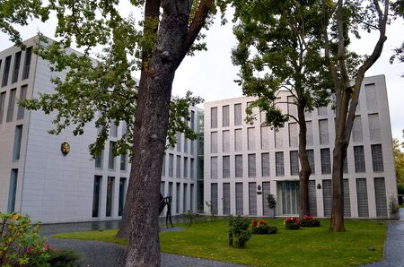 BERLIN, GERMANY- 17 SEPTEMBER 2019: The Apostolic Nunciature, in effect the Holy Sees Embassy in Germany, is in Lilienthalsttrasse in Berlin. The current nuncio is Archbishop Nikola Eterovic.