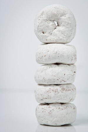powdered donut stack