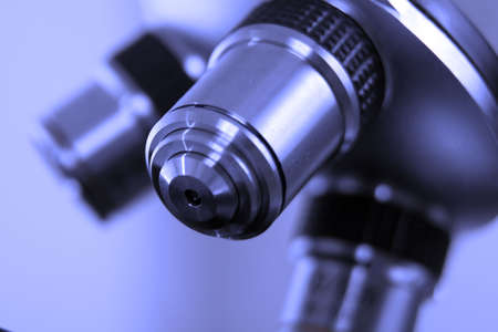 A lens from microscope used in medical laboratory Stock Photo - 1335866