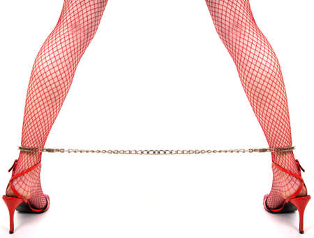Legs in heels and chains Stock Photo - 1354901