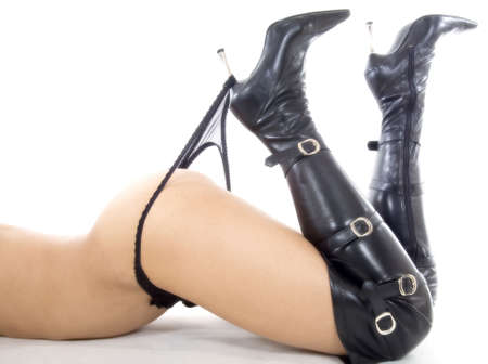 womans bottom and boots