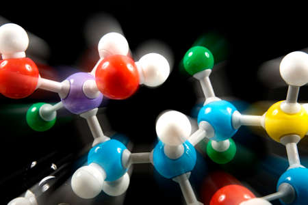 biochemistry model - motion Stock Photo - 1614070