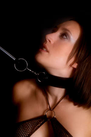 woman in bondage Stock Photo