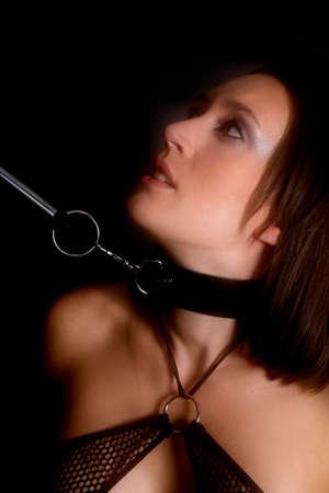 woman in bondage Stock Photo