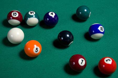 poolball: pool balls Stock Photo