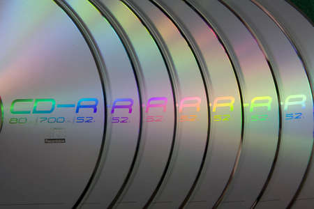 CDs in a row