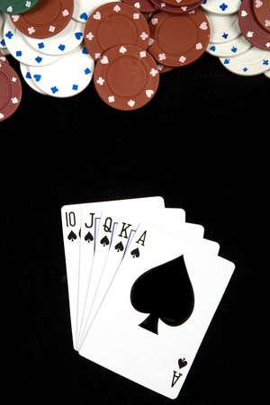 Spades royal Flush at Poker