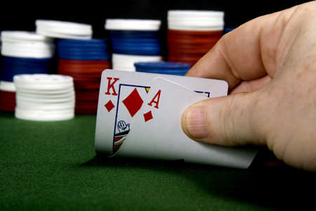 Ace - King at poker (From a series of poker starting hands