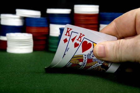 Pair of kings at poker (From a series of poker starting hands