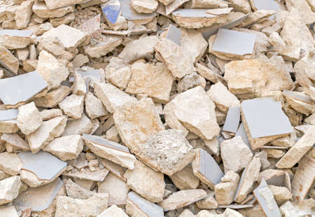 full frame abstract detail of some broken flagging and stones Stock Photo - 21448706
