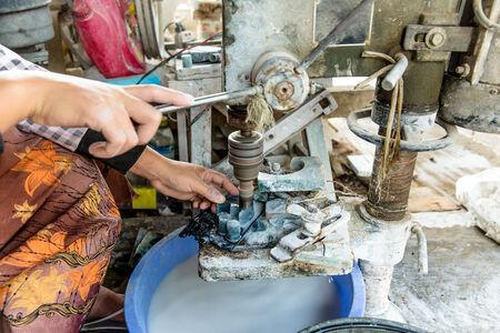 esot�risme: Machine jade de forage � grande vitesse Banque d'images