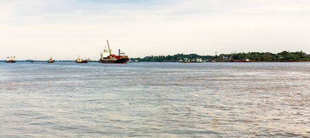 General cargo Ships on the water photo