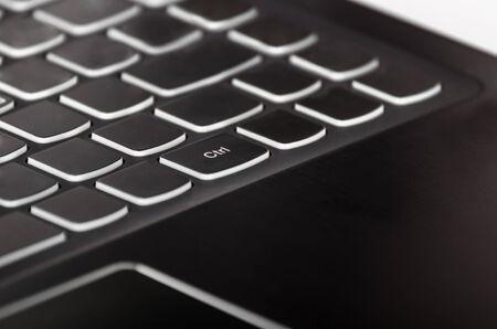 Ctrl - Control key on laptop keyboard photo