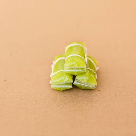 thai style: Thai Style Caramel, One of thai local sweet toffee Stock Photo