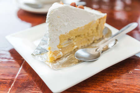 plato del buen comer: Pastel de coco fresco con crema