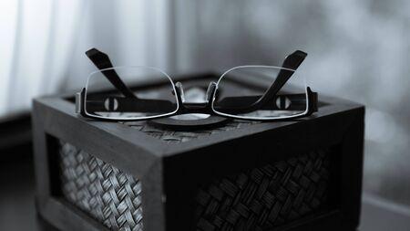 refinement: modern glasses, Vintage still life Stock Photo