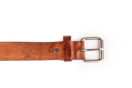 buckle: Belts with buckle isolated on a white background