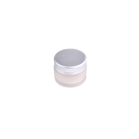 matte: White Matte Glass Doublewall Jar  With With Lid