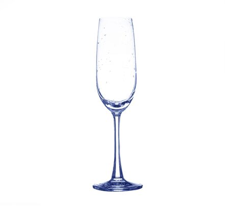 chardonnay: color full empty wine glass Stock Photo