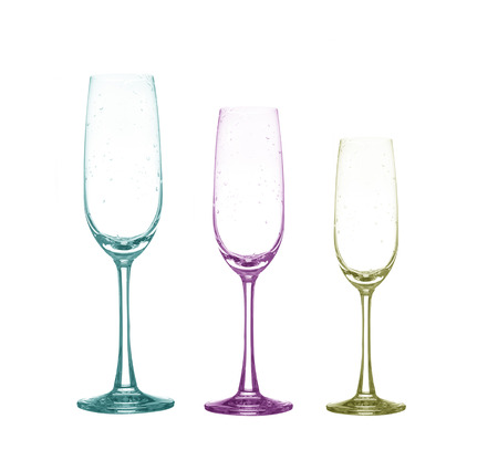 cabernet: color full empty wine glass set on white background Stock Photo