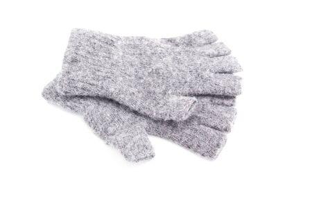 fingerless gloves: Wool fingerless gloves isolated on white background