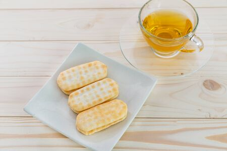 Japanese rice craker with tea, corn cheese flavor