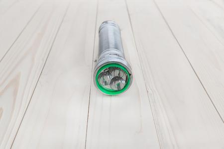 aluminium: classic aluminium torch flashlight