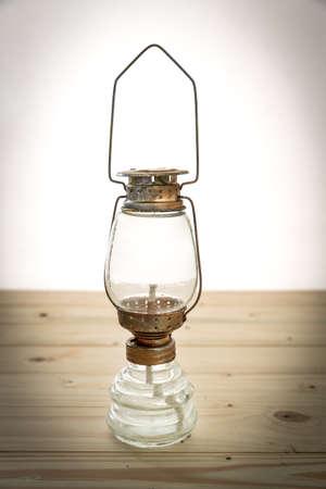 kerosene lamp: old rusty kerosene lamp