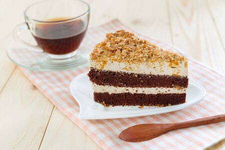 gateau chocolat: Homemade chocolate cake Banque d'images
