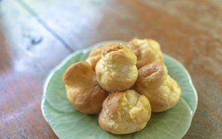 creampuff: Fresh Mini Cream Puffs, Cream puffs Stock Photo