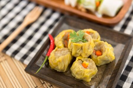 kind of: Kind of chinese snacks, Chinese steamed dimsum Stock Photo