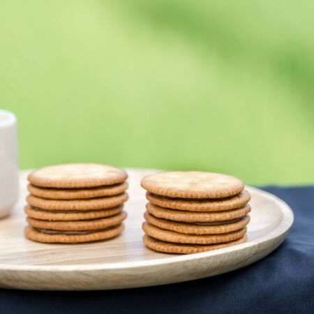 biscuts: Sandwich biscuits, filled with chocolate