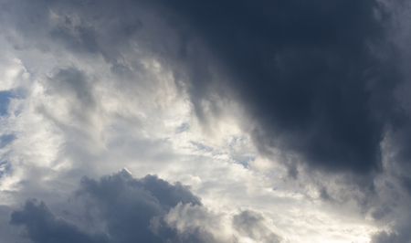 stormy clouds: dramatic sky with stormy clouds, dramatic cloudscape area for background Stock Photo