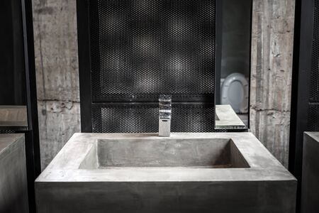 wash basin: Commercial bathroom, Interior house, elegant wash basins in stylish bathroom  - vintage effect style pictures