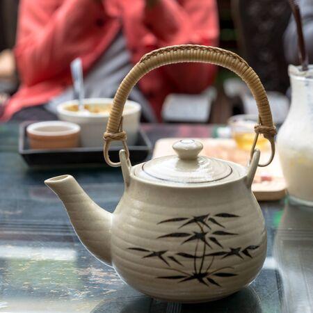 chinese teapot: Chinese teapot, tea pot, eastern teapot Stock Photo