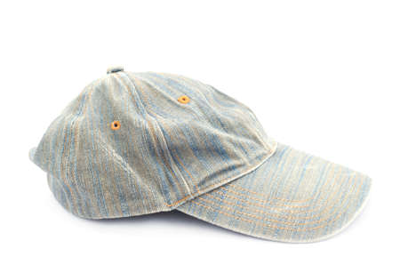 Jeans cap on white background Stock Photo