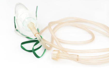 lines for nebulizer maskson white background