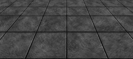 empty concrete tiles floor condition with grid line for background - modern bricks texture Banco de Imagens