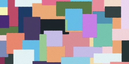 geometric color block pattern background - oil painting on canvas : digital art