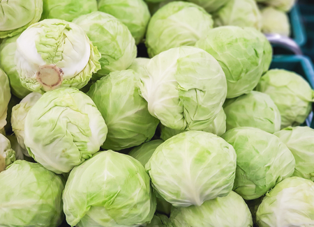 fresh cabbage for sale in the market Stock fotó