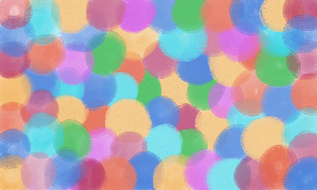 illustration abstract background of overlapping circle shape - oil painting on canvas : digital art