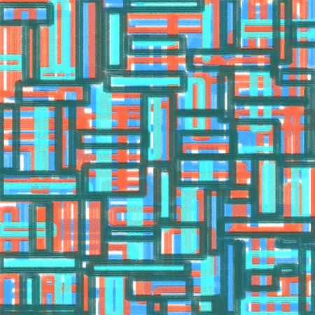 geometric color block pattern background - oil painting on canvas : digital art : illustration graphic design