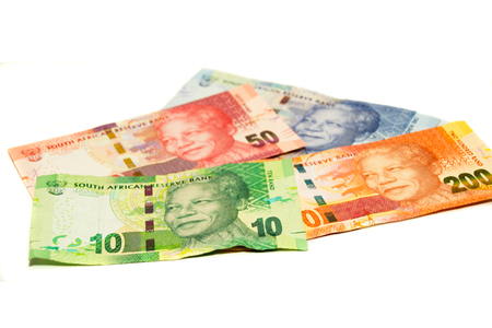 Paper money of South-Africa isolated on a white background