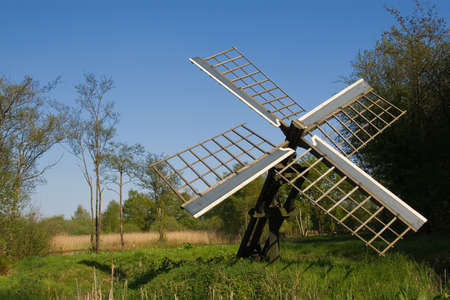watermill: Old Dutch watermill Stock Photo