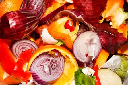 separacion de basura: (Verde) wast de basura de los alimentos Foto de archivo