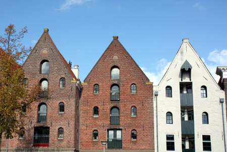 groningen: Old warehouses in the center of Groningen Netherlands