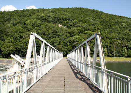 architectonics: Bridge over the Meuse at Blaimont in the Belgian Ardennes