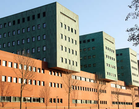 groningen: Moderne kantoor gebouwen in de stad Groningen. Nederland